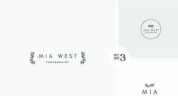 Feminine Premade Logo Bundle – good for wedding, hipster events.