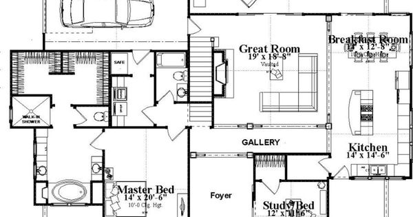 Foyer Closet Crossword : Bungalow style house plan beds baths sq ft
