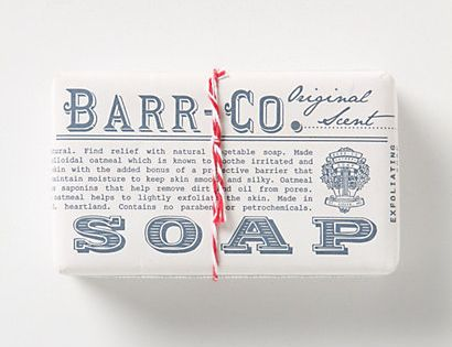 Barr-Co. Soap Bar packaging design
