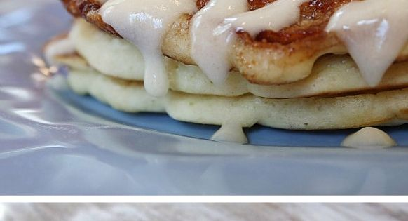 Cinnamon Roll Pancakes! Cinnamon Swirl Recipe: 4 tablespoons (1/2 stick) unsalted butter,