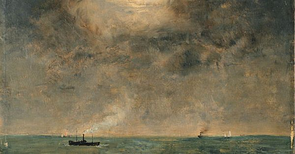 MOON ART - Moonlit Seascape, Alfred Stevens, 1892