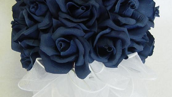 I personally wouldnt want and all Navy blue bouquet, but I had