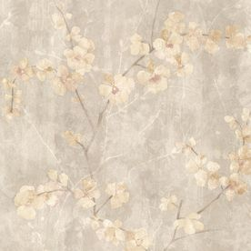 Brewster Wallcovering Kitchen And Bath Resource Iii 56 Sq Ft Beige Vinyl Floral Wallpaper Floral Wallpaper Classic Wallpaper Embossed Wallpaper