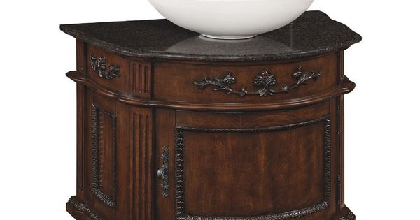 Style Selections 26 In Antique Cherry Vinton Single Sink