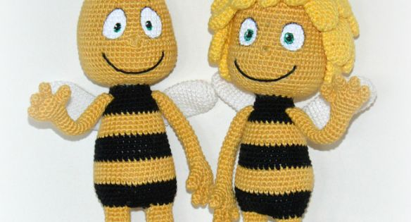Amigurumi Basic Doll Pattern : DSC_0017 - Maya the Bee and Willy - Pattern available on ...