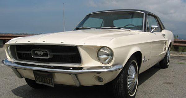 Just Like My Very First 1967 Mustang Vinyl Top 289 Pebble Beige Paint Black Interior Mustang 1967 Mustang Vintage Trailers