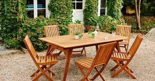 Pour Un Jardin Champetre Et Elegant Optez Pour Notre Salon De Jardin 7 Pieces Bricomarche En Acacia Jardins Champetres Jardins Entretien Jardin