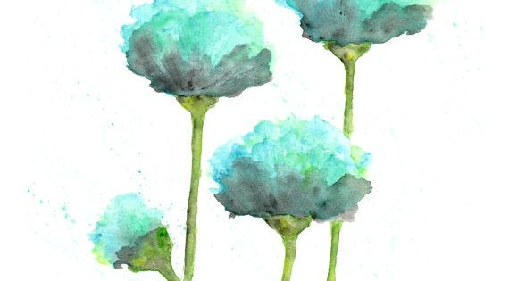 watercolor flower painting, watercolor poppies, flower art, abstract flower painting, poppy painting,
