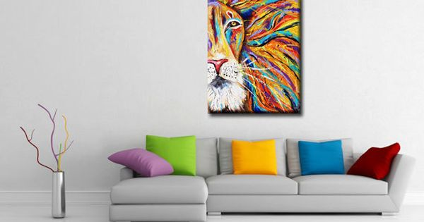 Textured iron lion zion abstract lion colorful rasta for Home decor jamaica