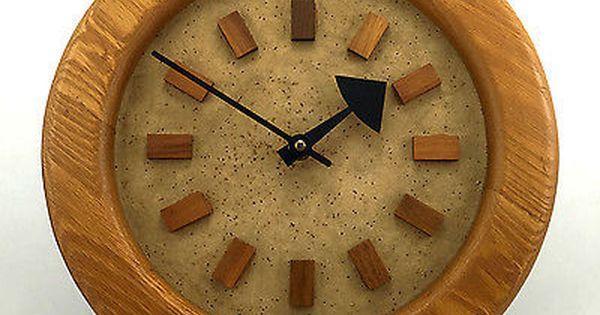 Arthur Umanoff Howard Miller Natural Classics Vintage Oak Wood Wall Clock Wood Wall Clock Wall Clock Clock