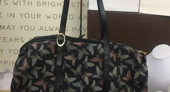 Hanae Mori Vintage Butterfly Duffle Vintage Butterfly Duffle Bags