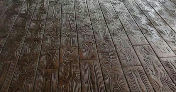 Wood Stamped Concrete Floors Amazing For The Homestead