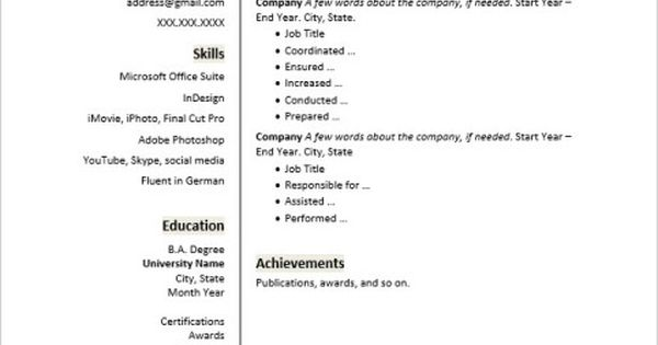 Is it time to create or update your resume? Make it memorable by - higher education resume