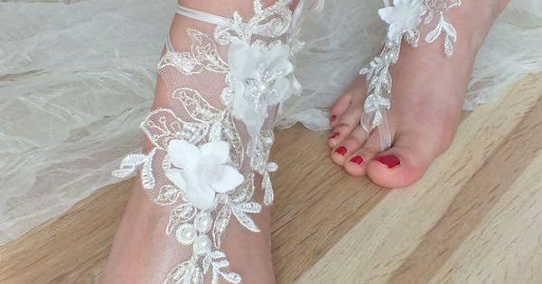 SANDALS // beach shoes,bridal sandals, lariat sandals, wedding bridal, bellydance, gothic, wedding shoes, summer wear, handmade on Etsy, A?21.40