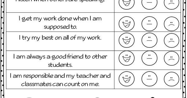 Parent Teacher Conference Forms - FREEBIE! Great self evaluation