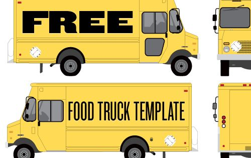 Food truck wrap template by studiofluid fun idea for for Food truck design software