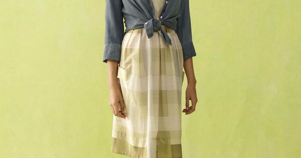 Anthropologie vintage-inspired outfit. The dress looks like it was made of puffy