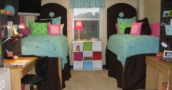 dorm decorating ideas | Good Dorm Room Ideas for Storage Organization: Colorful