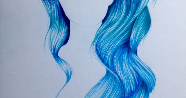 how to draw mermaid hair