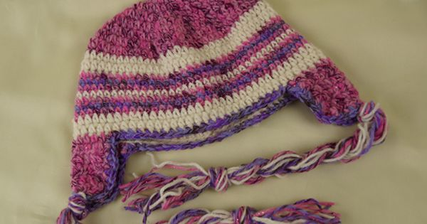 Free Crochet Hat Pattern For 6 Year Old : American Doll Size Braided Ear Flap Hat by The Crochet ...