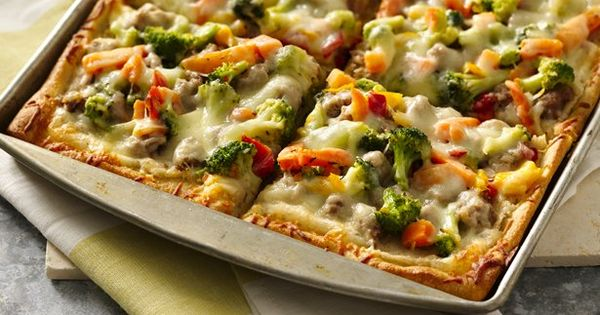 White Bean Sausage and Veggie Pizza | Recipe | Veggie Pizza, White ...
