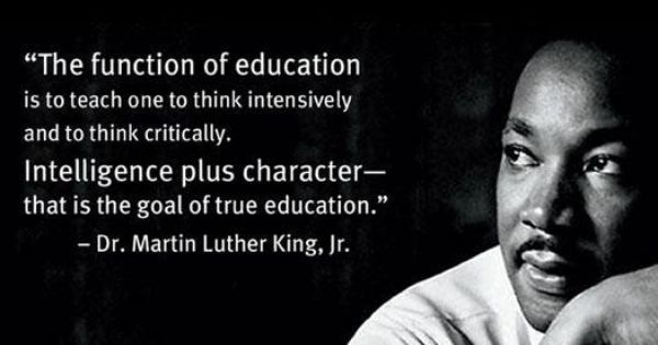 Mlk On Education Martin Luther King Jr Quotes Famous Education