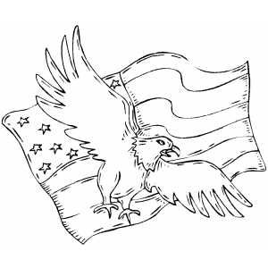 Eagle And Flag Flag Coloring Pages Coloring Pages Flag Printable