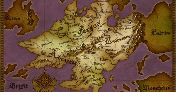Map Of Fodlan The Continent Of Fire Emblem Three Houses Fire