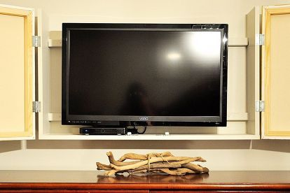Diy Flat Screen Tv Cabinet Decor Around Tv Wall Mounted Tv Tv Cabinets