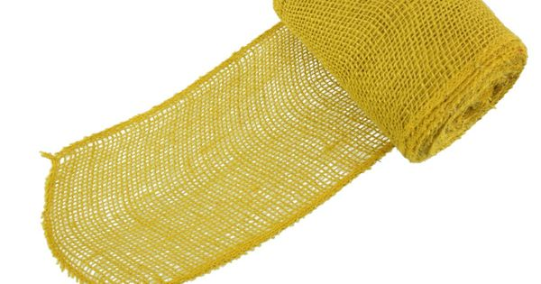 Amazon Com 5 Inch Wide Burlap Fabric Craft Ribbon 10 Yards Hemp Jute Straw Yellow Burlap Fabric Fabric Crafts Jute Crafts