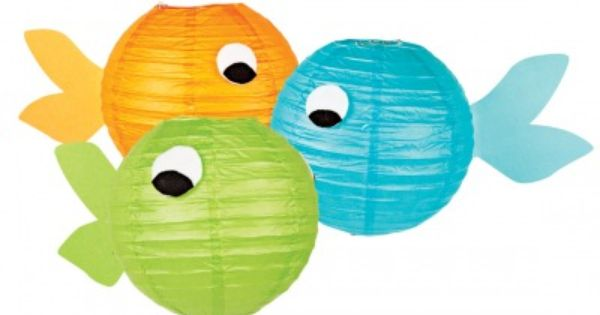 Fish Themed Birthday Party---looks like you can take some paper lanterns and
