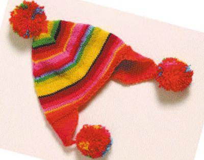 bonnet p ruvien enfant mod le de tricot loisirs. Black Bedroom Furniture Sets. Home Design Ideas