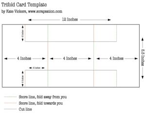 Tri Fold Card Tri Fold Cards Card Tutorial Greeting Card Template