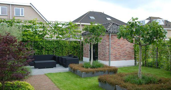 Moderne klassieke tuin in wognum van veen tuinontwerpen tuinontwerp hovenier tuinaanleg tuin - Eigentijds pergola design ...