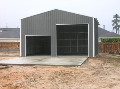 30 X 40 Metal Building For The Hubs Metal Garage Buildings