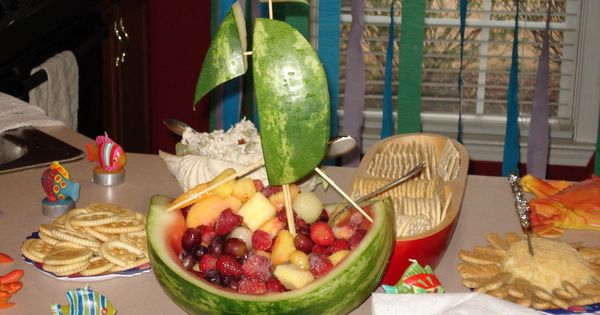 pirate ship fruit bowl