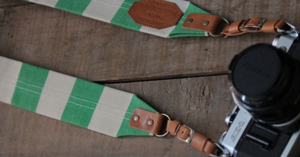 Lime ROBERU Canvas Camera Strap [Limited Edition]
