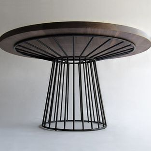 The Design Walker Wired Dining Table Solid Steel Tubing Shell