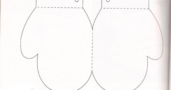 AG doll mitten template