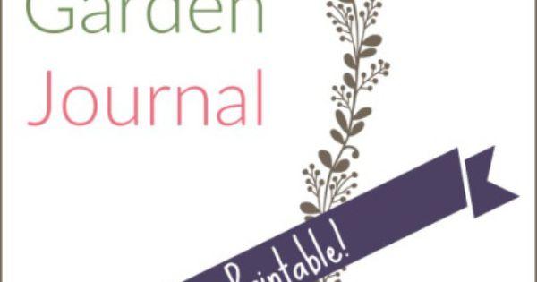 5 year garden Journal Cover image Garden Journaling