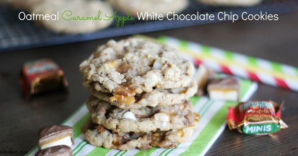 White chocolate chip cookies, White chocolate chips and Caramel apples ...