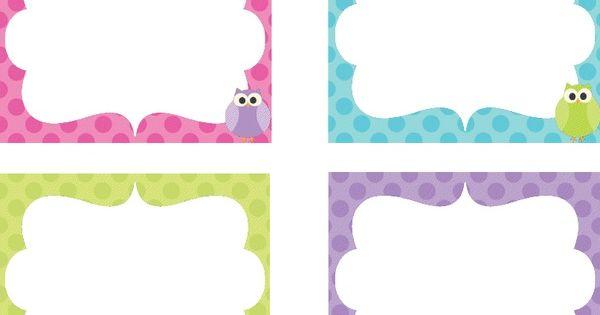 Owl Cubbie Tags   School Stuff   Pinterest   Owl, Cubby ...
