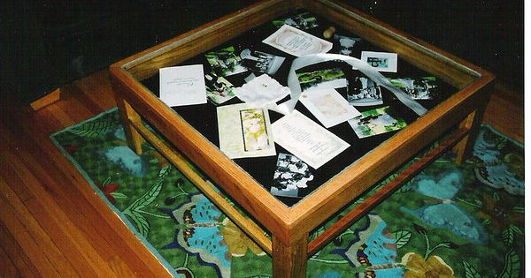 Curio Coffee Table Made As Wedding Gift To Charlie And Wendy Griak Solid Red Oak With Honey