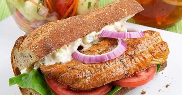 Cajun Catfish Po' Boy & Cooling Vegetable Salad | Fish and Seafood ...