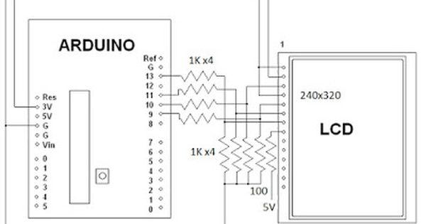 diagrama para tft de 2 2  2 4 o 2 8 pulgadas  spi tft lcd
