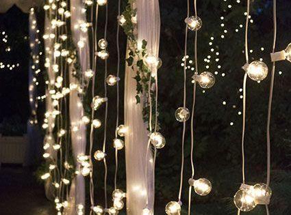 Globe String Lights 2 Inch E17 Bulbs 100 Foot White Wire