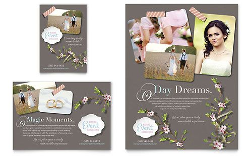 Wedding Planner Flyer Ad Microsoft Office Template Event