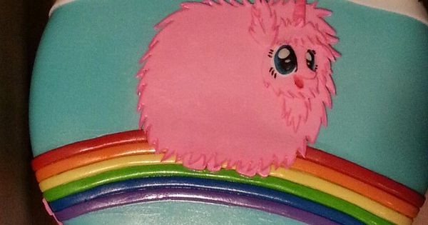Pink Fluffy Unicorn Dancing On Rainbows Cakes By Me