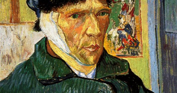 1889 van gogh autoportrait l 39 oreille band e self portrait with the bandaged ear huile sur - Van gogh autoportrait a l oreille coupee ...