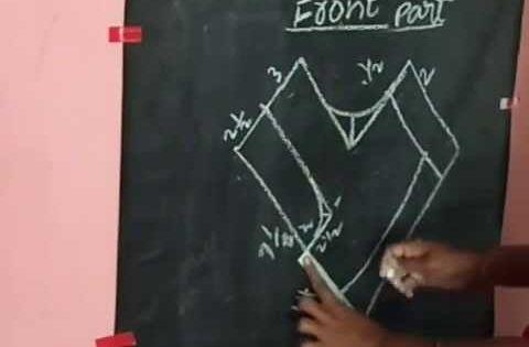 How To Cut Blouse In Cross Cutting In Telugu 41